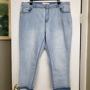 EST 1946 lite Jeans raw hem cropped